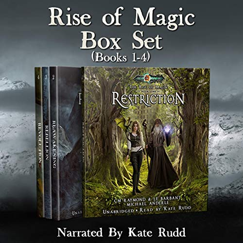 Rise of Magic Boxed Set One     A Kurtherian Gambit Series (The Rise of Magic Boxed Sets, Book 1)              De :                                                                                                                                 CM Raymond,                                                                                        LE Barbant,                                                                                        Michael Anderle                               Lu par :                                                                                                                                 Kate Rudd                      Durée : 34 h et 2 min     Pas de notations     Global 0,0