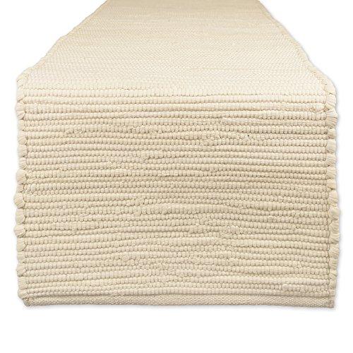DII Handmade Chindi Tabletop Reversable & Machine Washable, Table Runner 14x72, Natural
