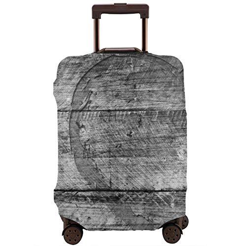 Cubierta protectora de equipaje de viaje con textura de madera, 18/24/28/32 pulgadas (sin maleta) elástica a prueba de polvo