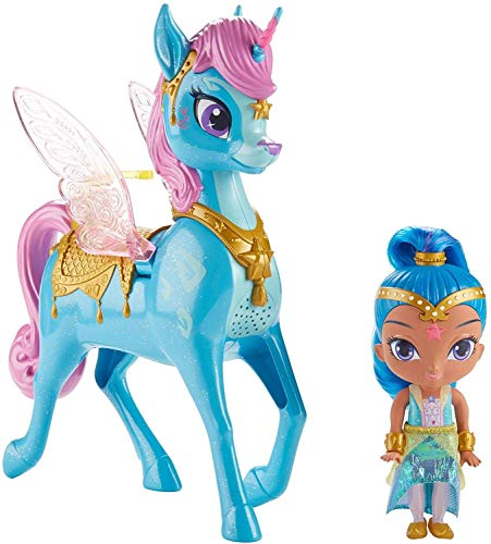 Shimmer and Shine- Shine and Magical Maíz Zahra Volador, Multicolor (Mattel FVF91)