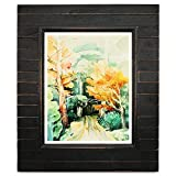 Eosglac 8x10 Picture Frame Distressed Black, Timbermount Rustic Photo Frame with Wood Siding Look, Tabletop or Wall Display