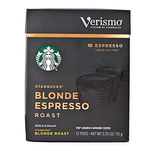 Starbucks Verismo Coffee Pods, Blonde Espresso Roast, 12 CT