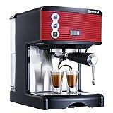 Máquina de café Máquina para hacer capuchinos Temporización semiautomática 1-2 tazas Sistema de salida 15 Bar 1.7 L 1450w Traje de máquina de café espresso eficiente para el hogar de la oficina