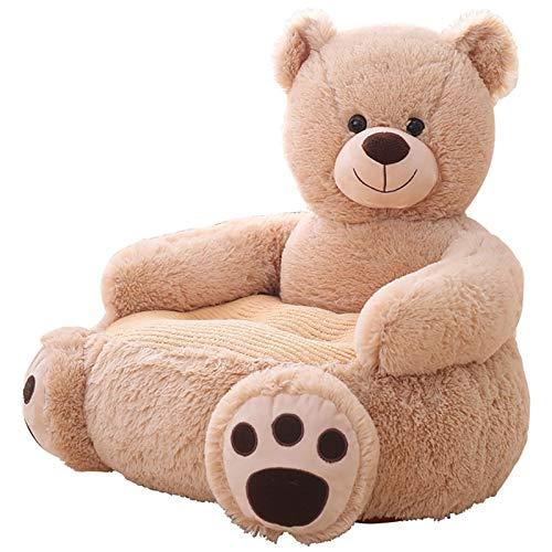 YLME Cartoons Kleines Sofa Stuhl, Kinder-Baby-Sofa-Bär Unterstützung Sitz Lernen Sitzen Für Soft Stuhlkissen Stillkissen Plüsch-Geschenk Für Weihnachten Geburtstag,A,50 * 50 * 45CM