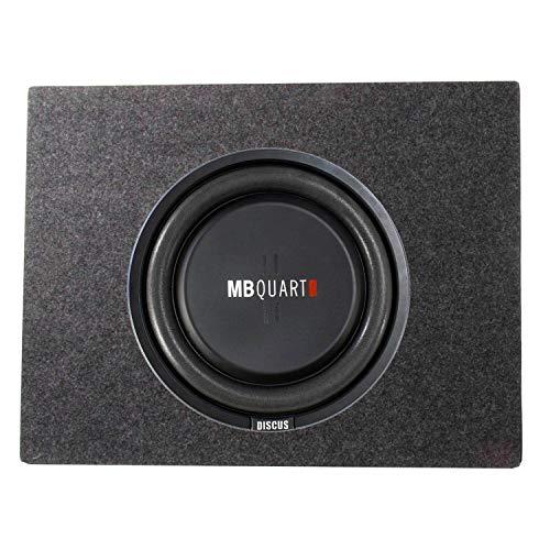 MB Quart 400 Watt 12 Inch Shallow Subwoofer + Q Power Slim Sub Car Box Enclosure