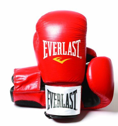 Everlast Fighter - Guantes de boxeo, color rojo/negro, talla