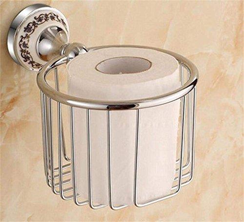 WTT papieren handdoekhouder alle koperen rekken wandbehang gouden rol papieren frame retro prullenbak Europese hanger toiletpapier box (kleur: 5#)