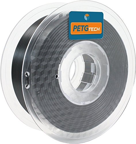 PETG Tech 1kg. Black 1.75 mm - Filamento PETG ad Alte Prestazioni per la Stampa FFF 3D - High Performance PETG Filament for 3D Printer
