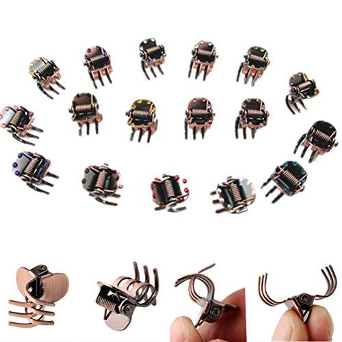 cuhair 10 Stück Vintage Metall Pony Haarklammer Haarspange Haarspange Haarschmuck für Frauen Mädchen