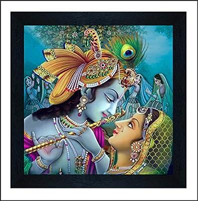 SAF Radha Krishna UV Coated Multi-Effect Digital Reprint Painting 12 inch X 12 inch SANF21055