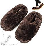 LONG-M Scaldapiedi USB Cuscino Riscaldante Elettrico Piedi Invernali Scarpe Calde Risparmio Energetico Pantofola Riscaldata Lavabile Sicura