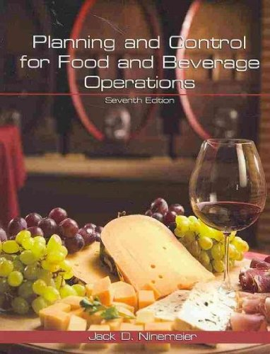 Planning and Control for Food and Beverage Operations