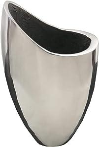 Vaso Portafiori in Acciaio Design Italiano by Natuzzi