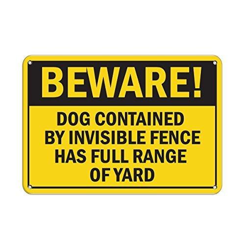 Personalisierbare Metallschilder für den Außenbereich Invisible Fence Hundespielzeug