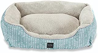 Home Dynamix NMCP_20inx28inx8in_HD151-444 Pet Bed, 20x28 Cuddler, Teal Abstract