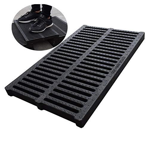 Drain-Cover, Usato Per Opere Di Drenaggio Filtro Lavello Prevenire Il Blocco Della Pipeline Antiscivolo Drenaggio Veloce Facile Da Installare , 15 Dimensioni ( Color : Black , Size : 600x400x30mm )