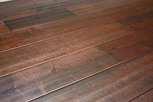 "Elk Mountain Maple Blackwater 3/4"" x 4-3/4"" Hand Scraped Solid Hardwood Flooring NH205 Sample"