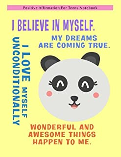 Positive Affirmation Notebook For Teens: Positive Self-Affirmations for Teens Teenagers Book Journal Cards Notebook (Posit...