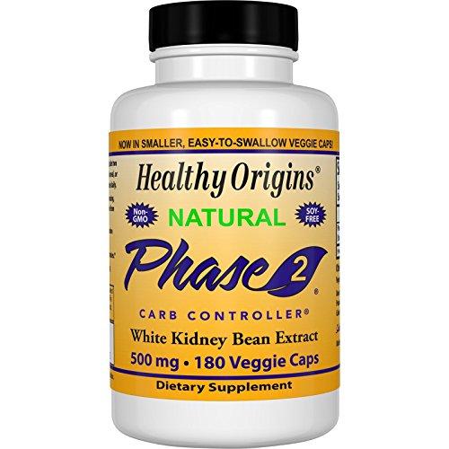 Healthy Origins,Natürliche Phase-2-Carb-Controller, Weiße Kidney Bohnen Extrakt, 500 mg, 180 Kapseln