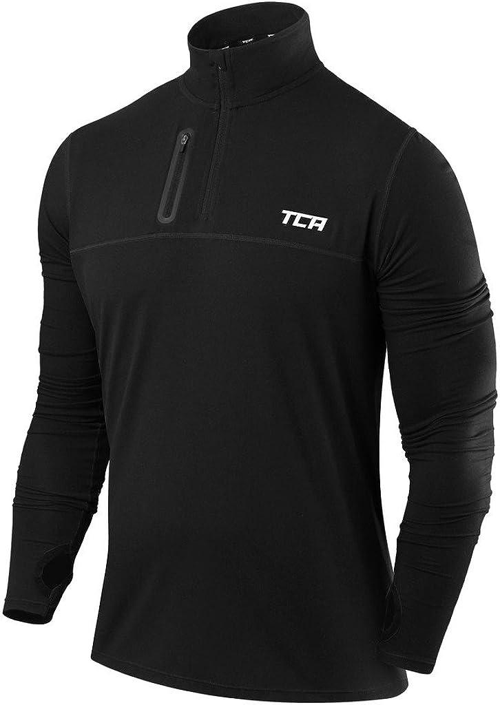 TCA Men's Fusion 2021 model Pro Quickdry Sleeve Long Shirt Half-Zip Running Mail order