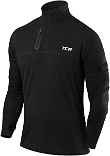 TCA Men's Fusion Pro Quickdry Long Sleeve Half-Zip Running Shirt