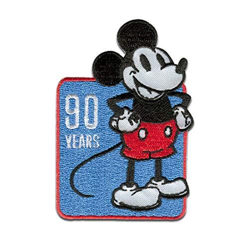Disney © Mickey Mouse 90 Jahre - Aufnäher, Bügelbild, Aufbügler, Applikationen, Patches, Flicken, zum aufbügeln, Größe: 5,0 x 7,5 cm