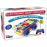 Snap Circuits R/C Snap Rover Electronics Exploration Kit | 23 Fun STEM Projects | 4-Color Project Manual | 30+ Snap Modules | Unlimited Fun,Black