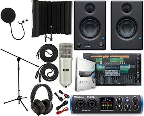 PreSonus Studio 24c 2x2 USB Type-C Audio/MIDI Interface with Eris 3.5...