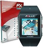 atFoliX Película Protectora Compatible con Polar V800 Protector Película, Ultra Claro y Flexible FX Lámina Protectora de Pantalla (3X)