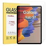 Manlian [2 Stück] Panzerglas Schutzfolie für Samsung Galaxy Tab S7 11 Zoll (Modell:SM-T870/SM-T875). Gehärtetes Glas Bildschirmschutzfolie.