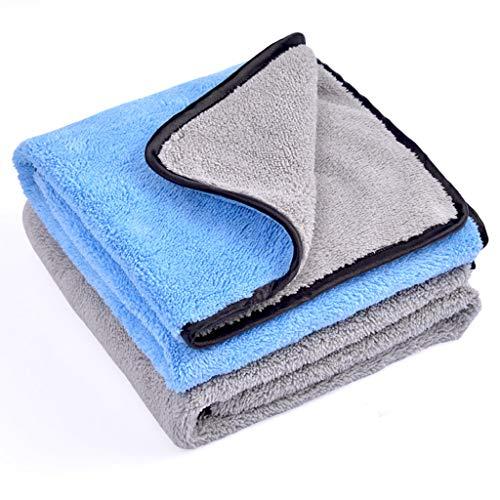 DYW Tücher Autowaschtuch, zweifarbige Korallen Samt Faser Reinigungstuch, Dickes Wasser, Nicht leicht zu verlieren Haare, Zwei