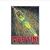 ZzSTX Martini Poster Campari Druck Vintage Leinwand Malerei