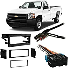 Compatible with Chevy Silverado Pickup 1999-2002 Single DIN Harness Radio Dash Kit