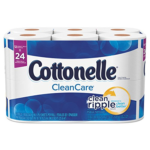 Cottonelle 12456PK Ultra Soft Bath Tissue, 1-Ply, 165 Sheets/Roll,...