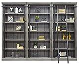Martin Furniture Avondale 3 Bookcase Wall Gray