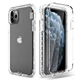 Venoro iPhone 11 Pro Max Case, Rugged Full Body Protective Case Anti-Scratch Shockproof Cover Ultra Fit for Apple iPhone 11 Pro Max 2019 6.5inch (Clear)