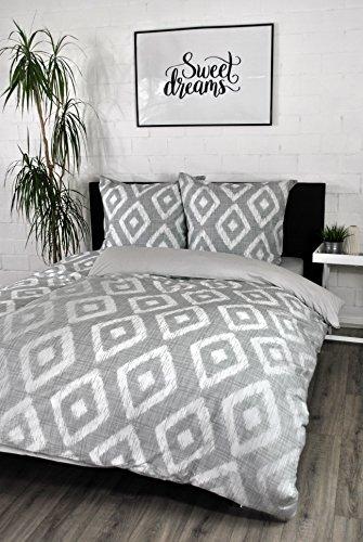jilda-tex Bettwäsche Digitaldruck 100% Baumwolle Design Ikad Diamond