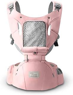 SONARIN 3 en 1 All Season Hipseat Baby Carrier, Portador de bebé,Cortavientos y Protección Contra el Sol,Multifunción,Ergonómica, Tamaño Libre,100% GARANTIZADO y ENTREGA GRATUITA, Ideal Regalo(Rosado)