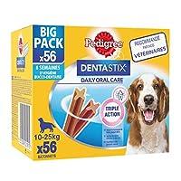 Il est scientifiquement prouvé que les sticks dentaires pour chien Pedigree Dentastix réduisent jusqu'à 80 % de la formation de tartre ; à donner quotidiennement Ce sont les ingrédients actifs associés à une texture spéciale qui rendent les bâtonnets...