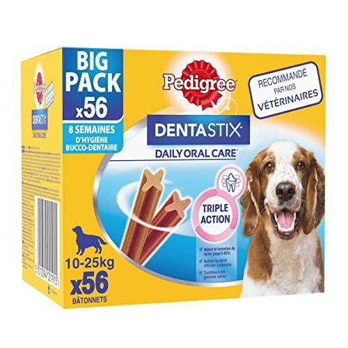 Pedigree Dentastix - Friandises pour moyen chien, 56...