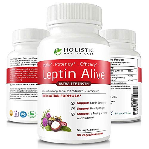 pure leptin supplements Maximum Leptin Weight Loss for Women, Extra Strength - MeraTrim, Carnipure and Cissus Quadrangularis Natural Fat Loss, Boost Metabolism and Suppress Appetite. 60 Veggie Capsules