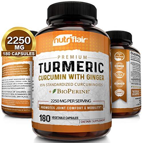 Turmeric Curcumin with Ginger & BioPerine Black Pepper Supplement ::...