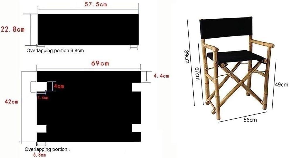 YTYZD Nouveaux directeurs Chaises Toile Droit Pied Directeur Président Remplacement Canvas Chair Bamboo Chair Cover (Color : C1) B1