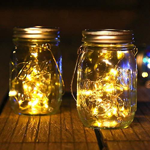 FEIYING Lámparas Solares, Luces De Decoración De Jardín Al Aire Libre, Luces De Colgaje De árbol Decorativas Al Aire Libre, Luces De Paisaje Impermeable-2 Paquetes(Color:luz Calida)