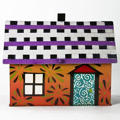 Briefkasten Haus orange