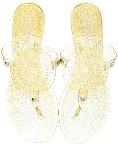 Desigual Shoes Jelly Galactic, Chanclas Mujer, Oro 9125, 39 EU