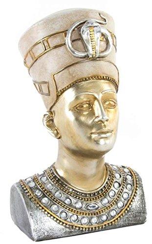 AVENUELAFAYETTE Figurine - Statuette Buste Pharaon Couleur Or - Egypte - 24 cm