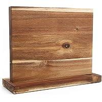 Resafy Wooden Block Holder Magnetic Universal Chef Knife Stands