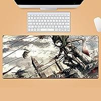 进击的巨人 Attack On Ti-Tan 鼠标垫 大型 超大型 桌垫 游戏鼠标垫 动漫 键盘垫 防水 防滑 耐久性 时尚 鼠标垫 办公室/家用通用-700*300*3mm-D_900*400*3MM