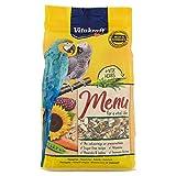 Vitakraft - Menú Premium para Loros con Mezcla de Semillas, Frutos Secos y Pipas de Girasol, Alimento Principal - 1 kg